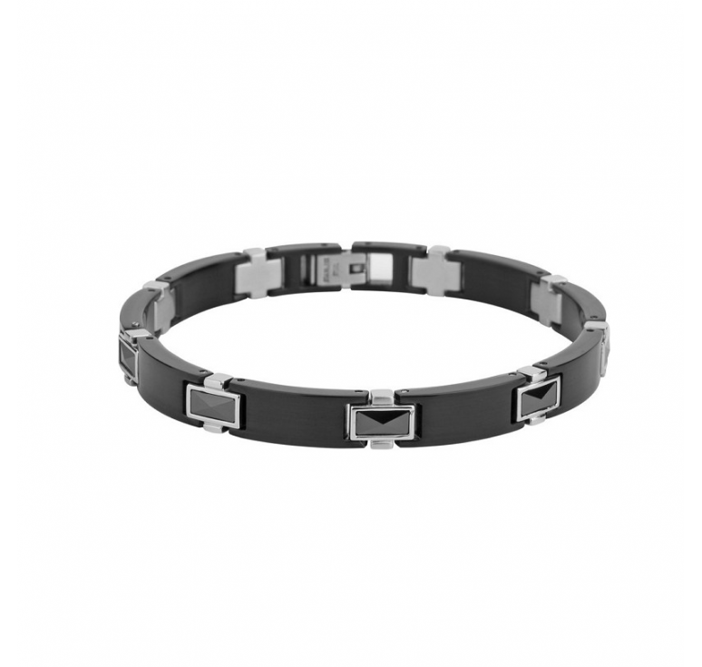 Мужской браслет из ювелироной стали с кубическими цирконами. Мужские браслеты. Подарок для мужчины - браслет из