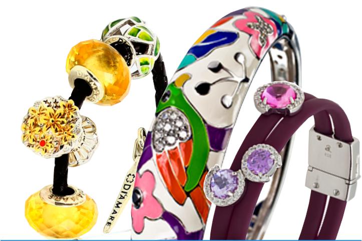 Женские браслеты и шармы из серебра